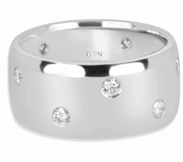 Ladies Multi Set Design Engagement Ring - R479 - GN Designer Jewellers