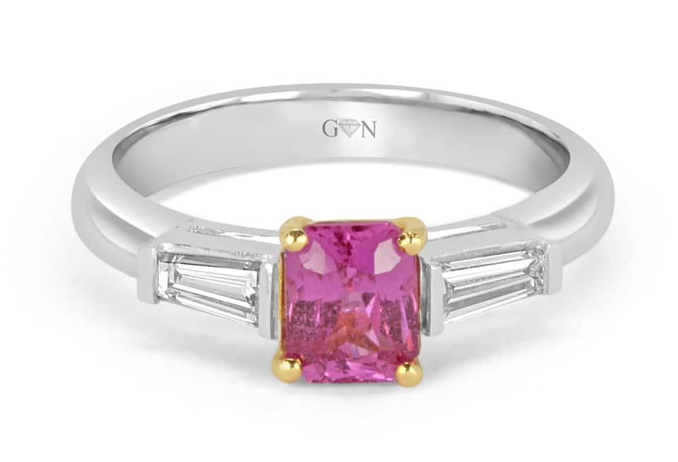 Ladies Coloured Stone Design Engagement Ring – R741 - GN Designer Jewellers