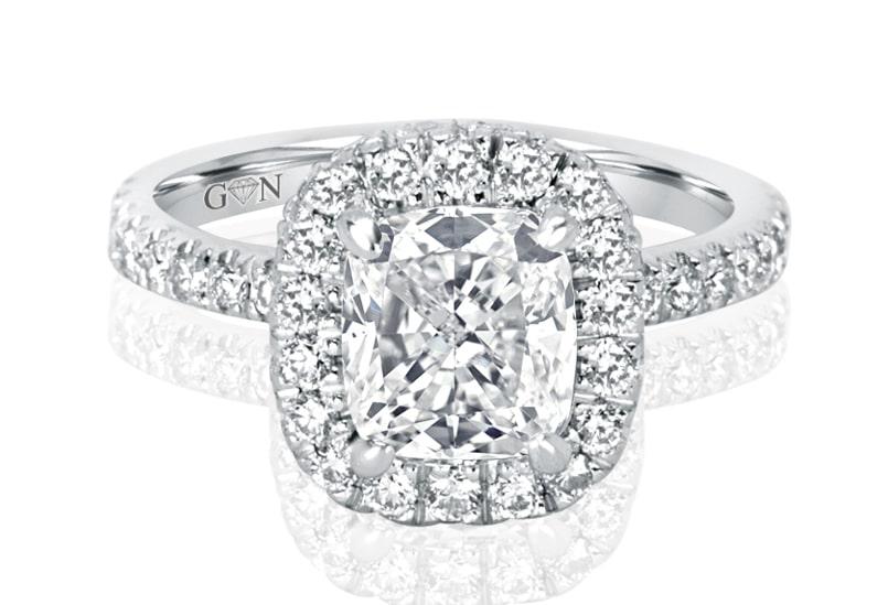 Ladies Halo Design Engagement Ring – R1128 - GN Designer Jewellers